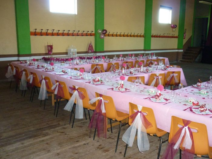 Décoration de tables pour notre mariage.
